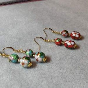 Handcrafted cloissnea earrings